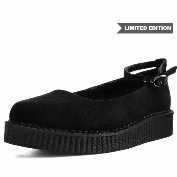 TUK Black Pointed Ballet Creeper A9416