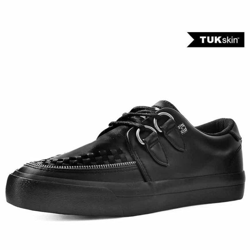 TUK Black Zipper Sneaker Creeper A9422