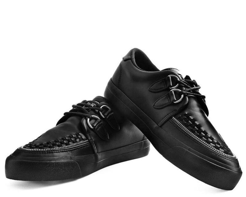 TUK Black Zipper Sneaker Creeper A9422 2