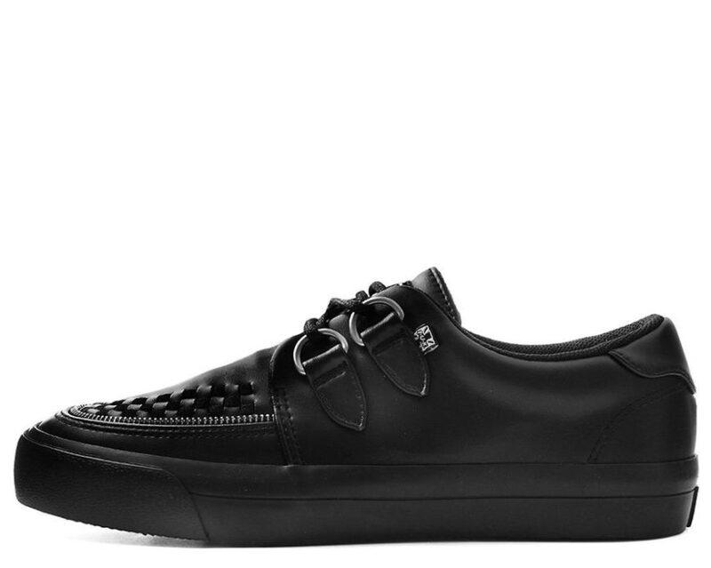 TUK Black Zipper Sneaker Creeper A9422 1