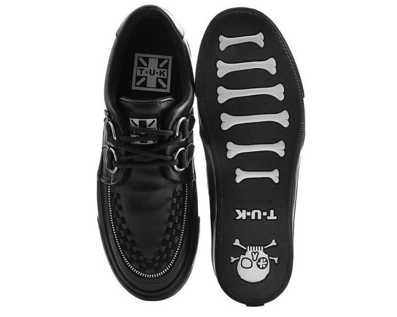 TUK Black Zipper Sneaker Creeper A9422 4