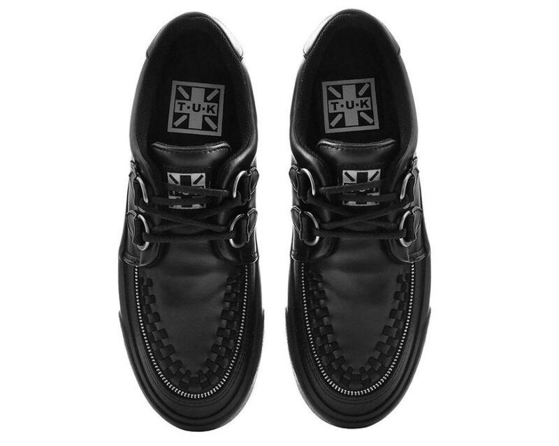 TUK Black Zipper Sneaker Creeper A9422 3