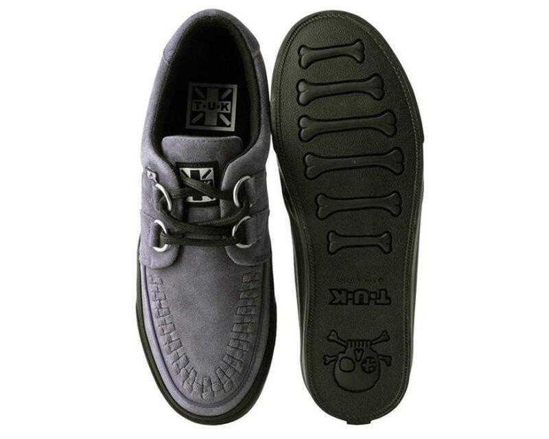 TUK Gray Suede Sneaker Creeper A9528 3