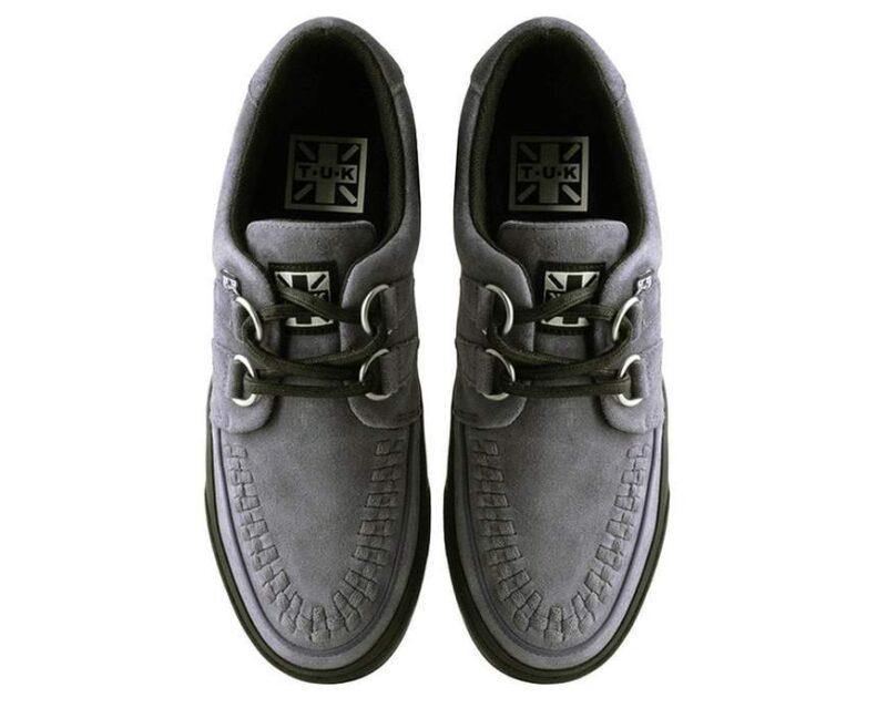 TUK Gray Suede Sneaker Creeper A9528 2