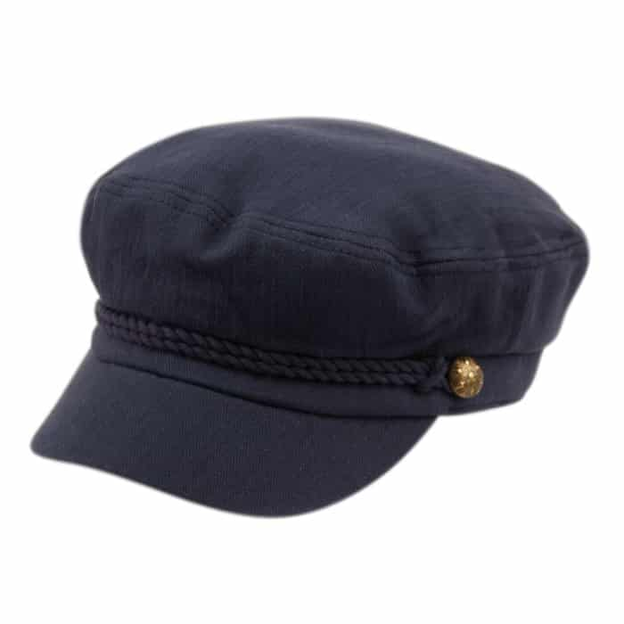 Navy Cotton Greek Fisherman Hat