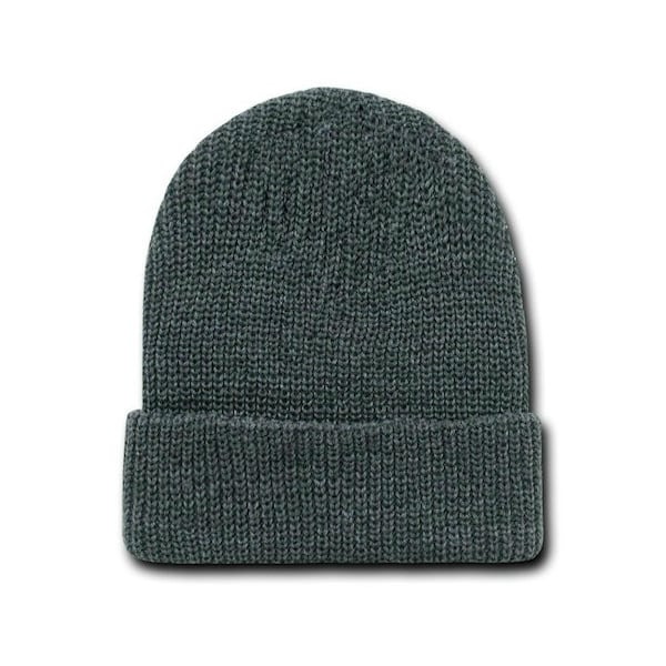 Heather Charcoal Watch Cap Beanie
