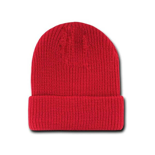Red Watch Cap Beanie