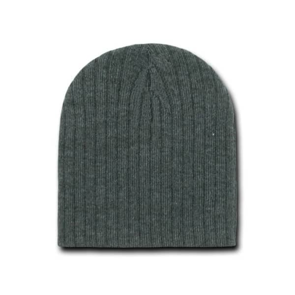 Heather Charcoal Cable Beanie