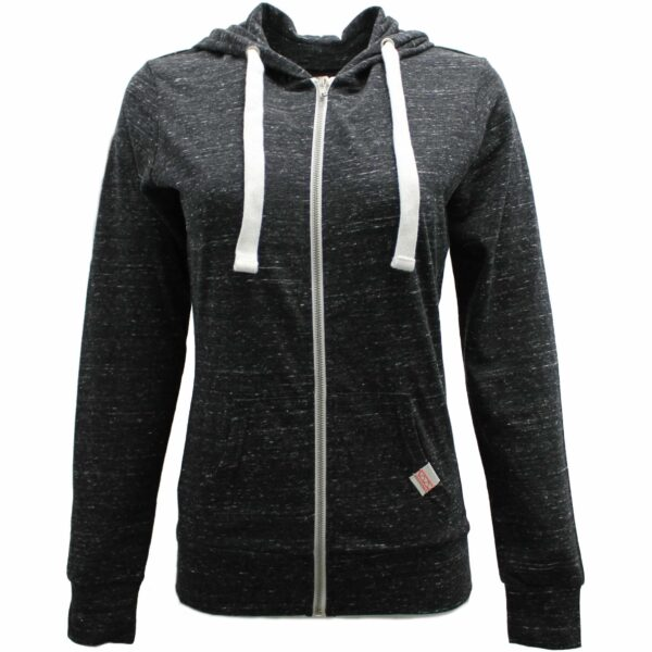 Women's Heather Charcoal Full Zip Hoodie