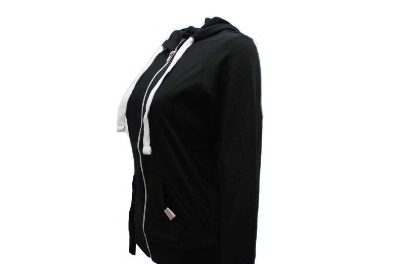 Women's Black Full Zip Hoodie 1