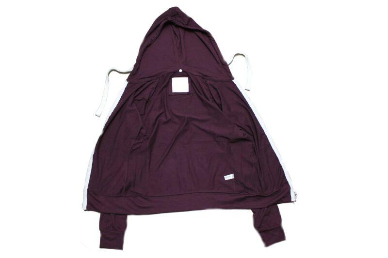 Women's Burgundy Full Zip Hoodie 3
