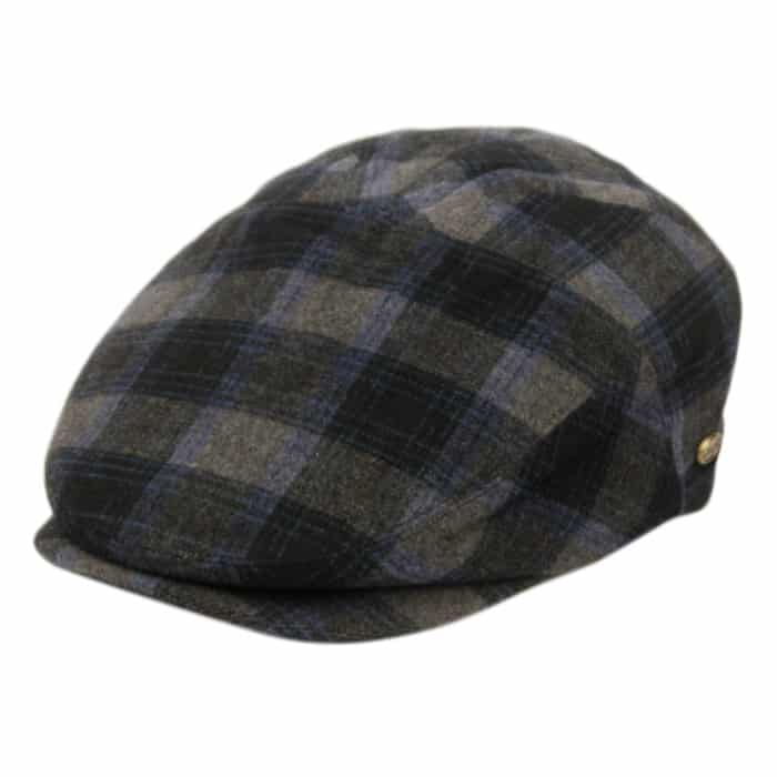 Blue and Gray Plaid Ivy Hat