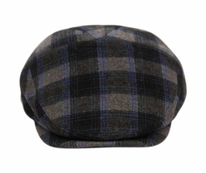 Blue and Gray Plaid Ivy Hat 2