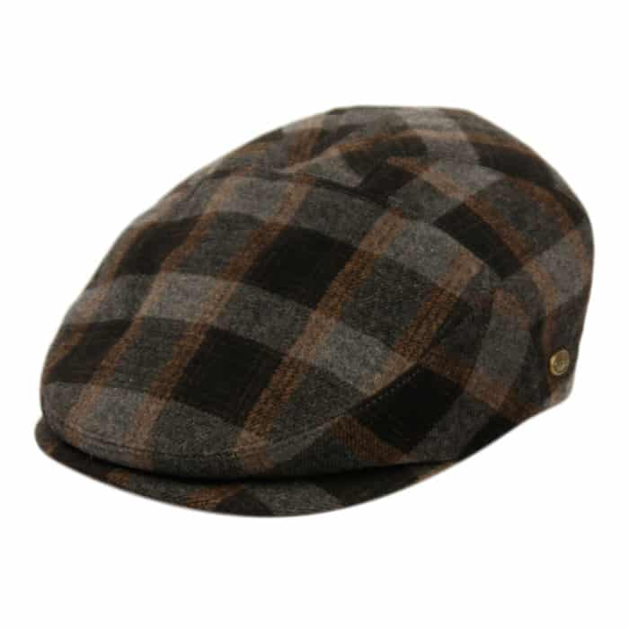 Brown and Gray Plaid Ivy Hat