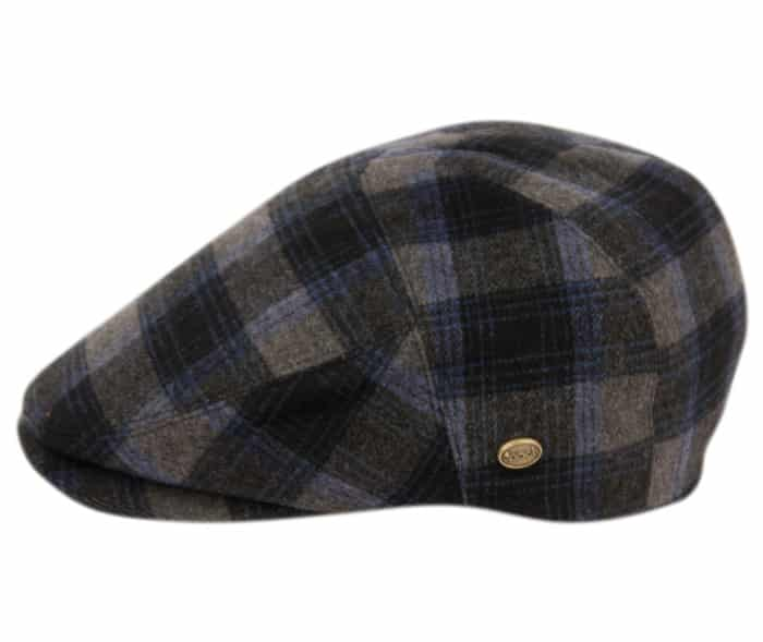 Blue and Gray Plaid Ivy Hat 1
