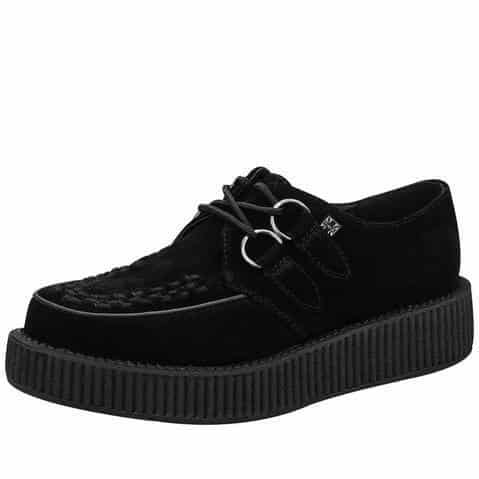 TUK Black Suede Low Sole Creeper V7270
