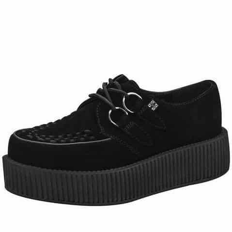 TUK Black Suede Mondo Creeper V7757