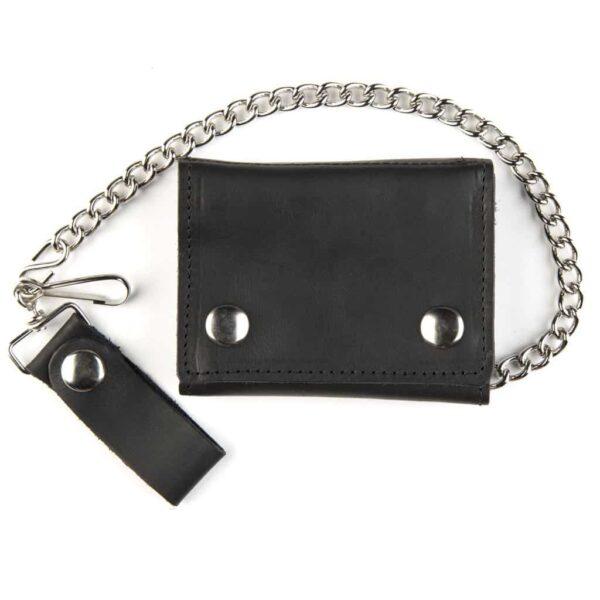 Large Tri-Fold Black Wallet