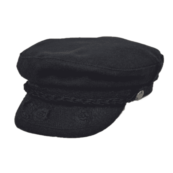Black Wool Greek Fisherman Hat