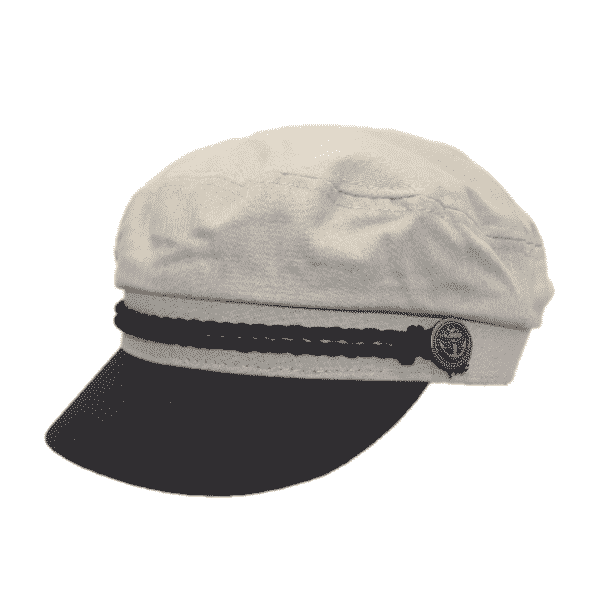 Ivory Cotton Greek Fisherman Hat