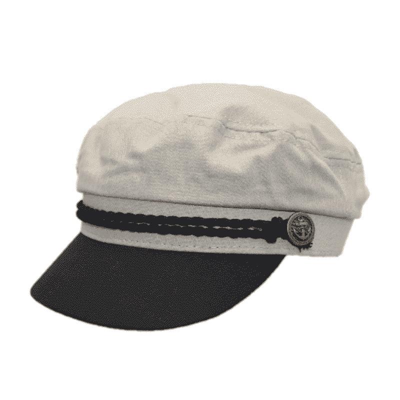 Ivory Cotton Greek Fisherman Hat