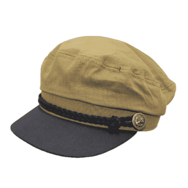 Olive Cotton Greek Fisherman Hat