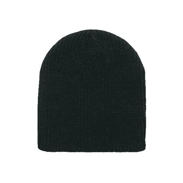 Black Cuffless Watch Caps Beanie