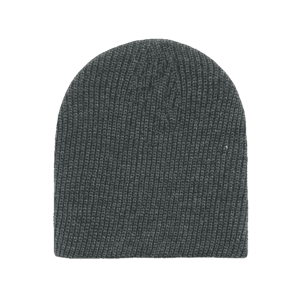 Heather Charcoal Cuffless Watch Caps Beanie