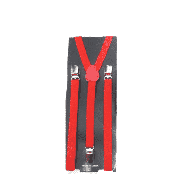Red Skinny Suspenders