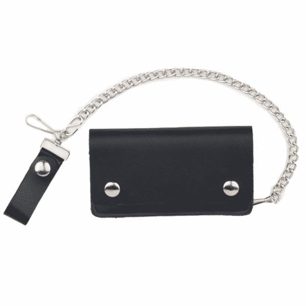 Plain Black Leather Wallet