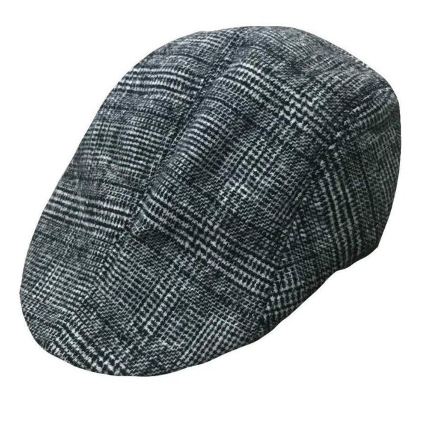 Black and White Plaid Ivy Hat