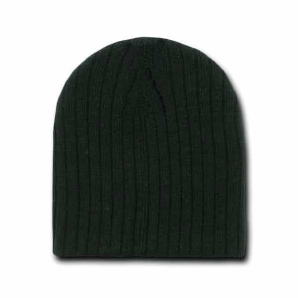 Heather Black Cable Beanie