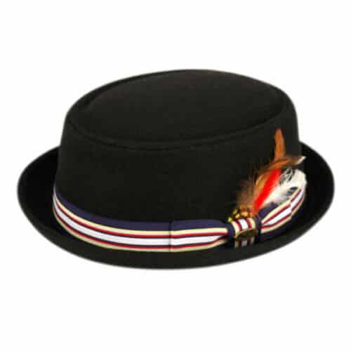 Wool Felt Pork Pie Fedora