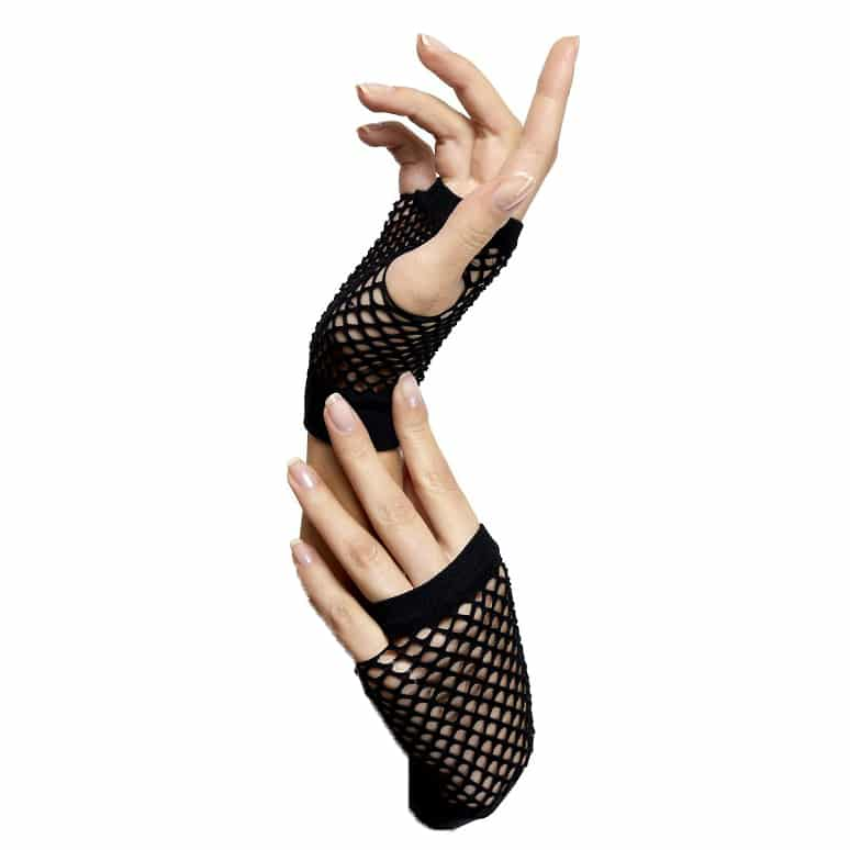 Short Fingerless Fishnet Gloves 2