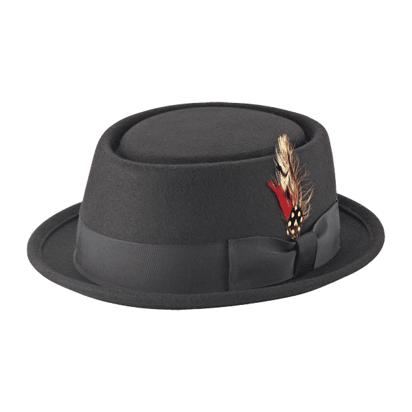 Wool Felt Pork Pie Fedora by New York Hat Co.