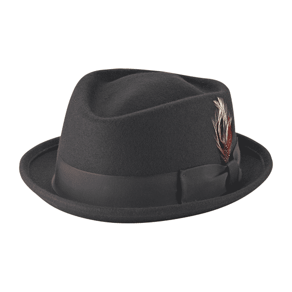 Wool Felt Diamond Crown Fedora by New York Hat Co.