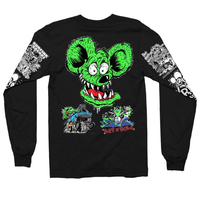 Rat Fink Collage Long Sleeve Shirt 1