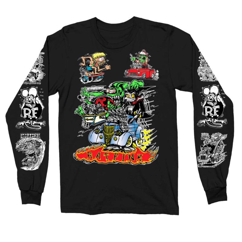 Rat Fink Collage Long Sleeve Shirt