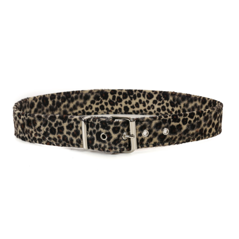 Leopard Faux Fur Belt