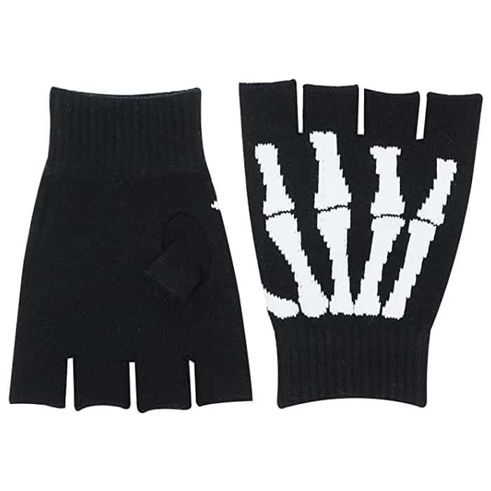 Fingerless Skeleton Gloves