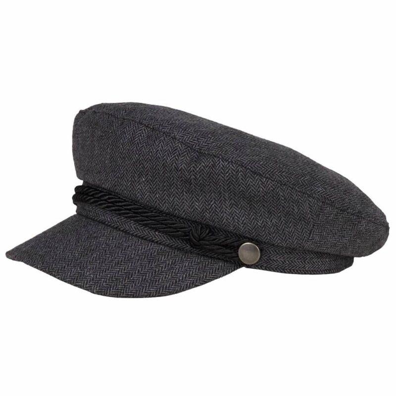 Charcoal Herringbone Greek Fisherman Hat