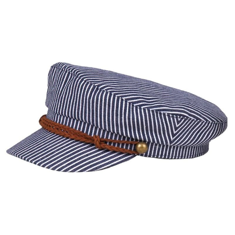 Navy and White Striped Greek Fisherman Hat