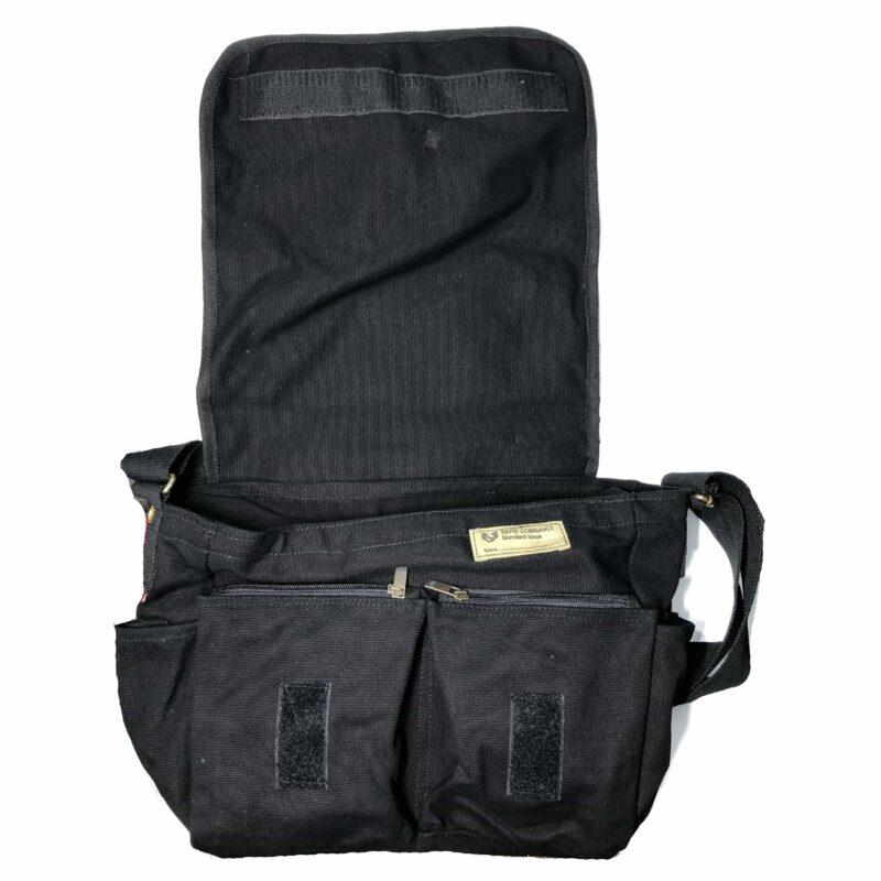 Black Military Messenger Bag 2