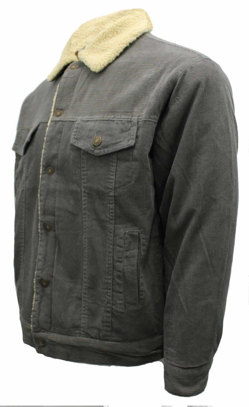 Gray Corduroy Sherpa Jacket 1