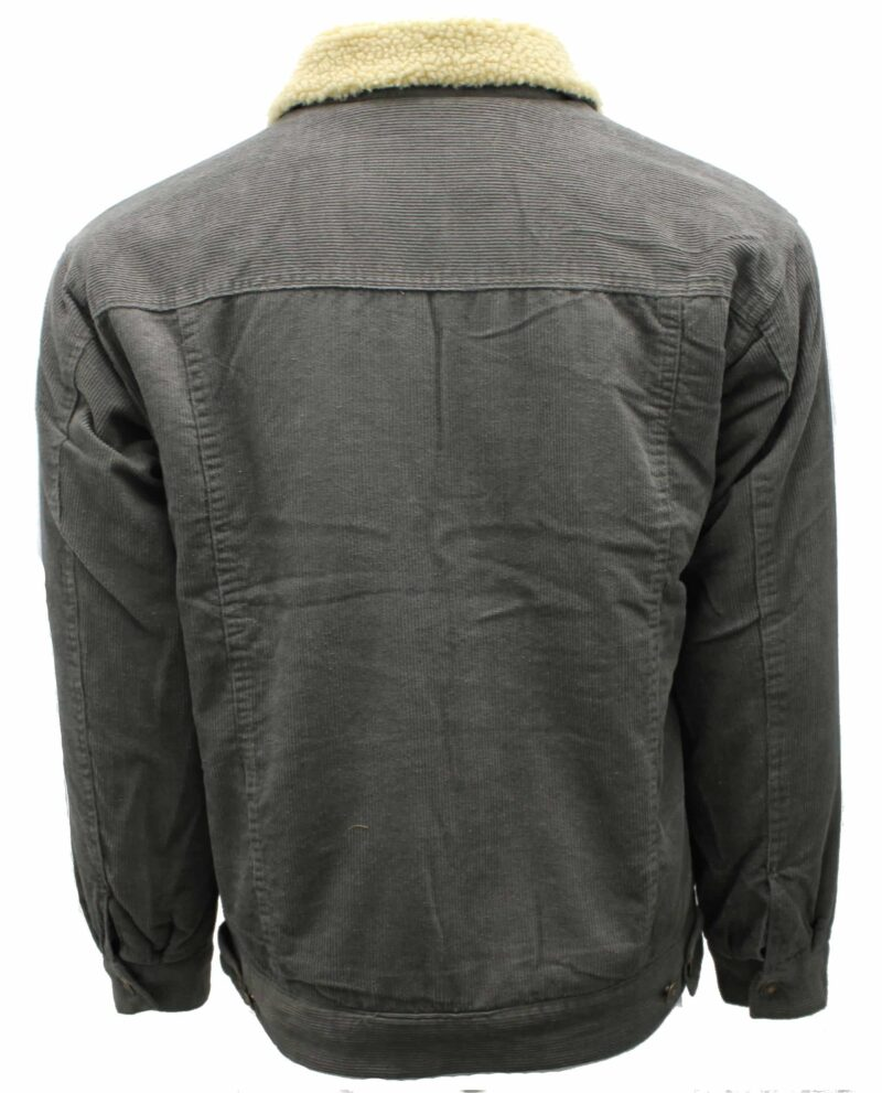 Gray Corduroy Sherpa Jacket 3