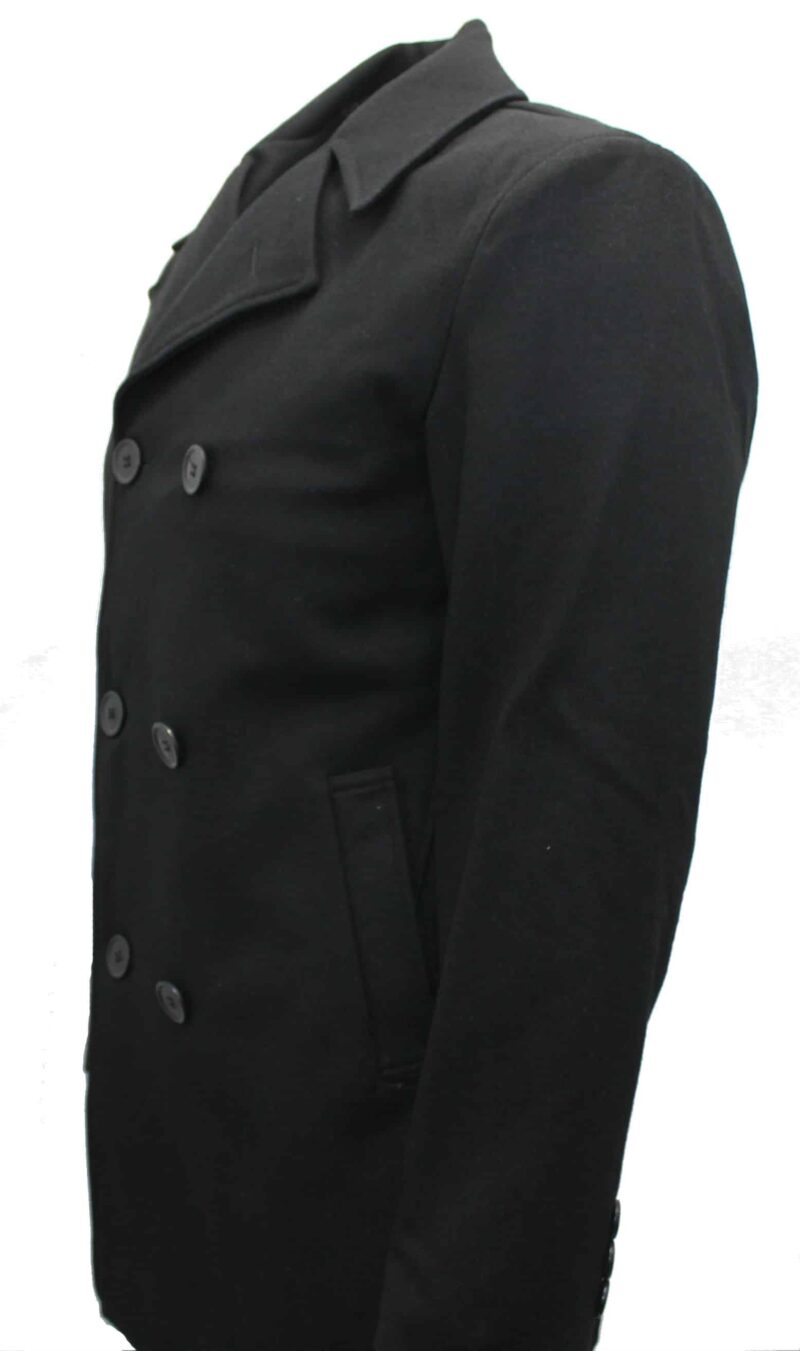 Black Double Breasted Pea Coat 1