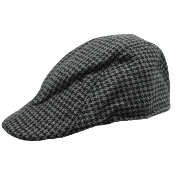Black and Gray Houndstooth Ivy Hat