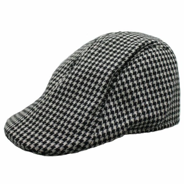 Black and White Houndstooth Ivy Hat