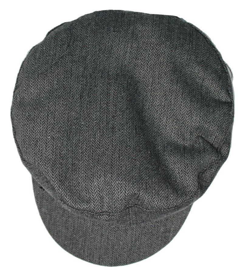 Cotton Charcoal Herringbone Greek Fisherman Hat 2