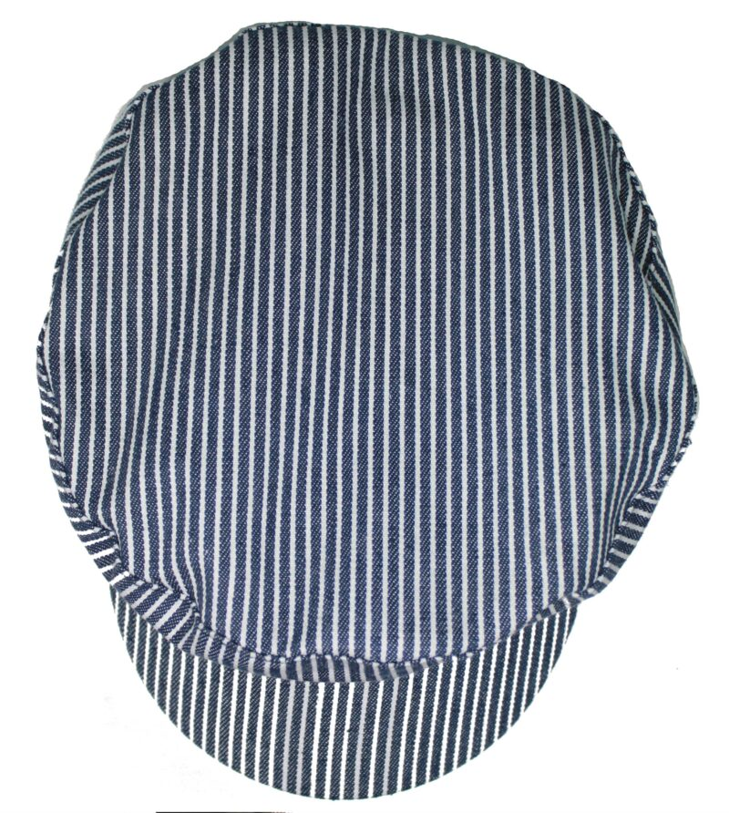 Cotton Navy and White Striped Greek Fisherman Hat 2